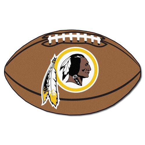 FANMATS NFL Washington Redskins Nylon Face Football Rug