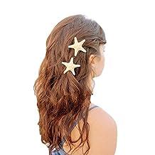 Lookatool Europe Women Lady Girls Pretty Natural Starfish Star Beige Hair Clip
