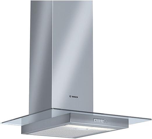 Bosch dwa064 W50b Classixx de cristal plano 60 cm Campana extractora en acero cepillado: Amazon.es: Grandes electrodomésticos