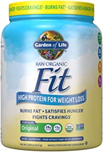Garden of Life Organic Meal Replacement - Raw Organic Fit Vegan Nutritional Shake for Weight Loss, 15.1oz (427g) Powder