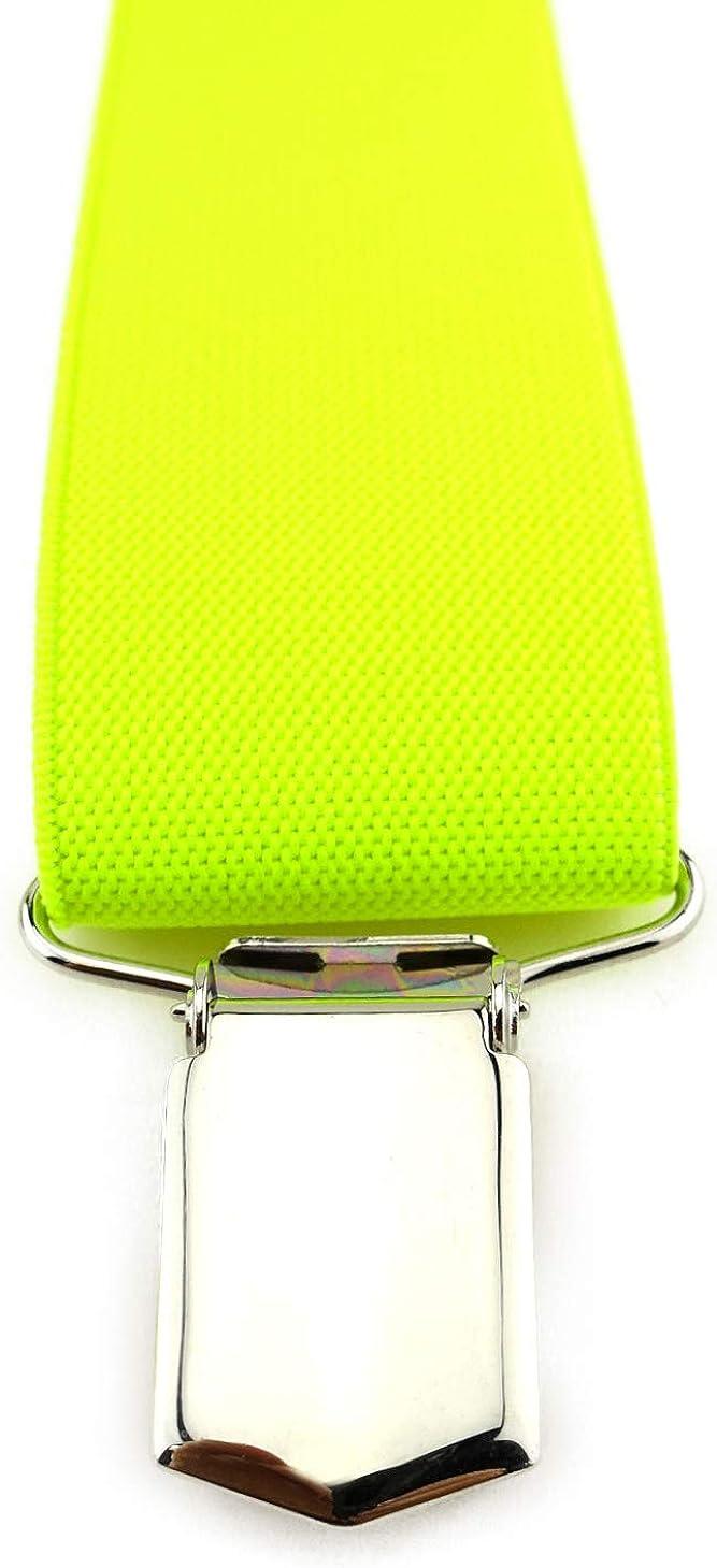 Breite 35 mm hochwertige Verarbeitung TigerTie Unisex Hosentr/äger in Y-Form mit 3 extra starken Clips Farbe in einfarbig Uni