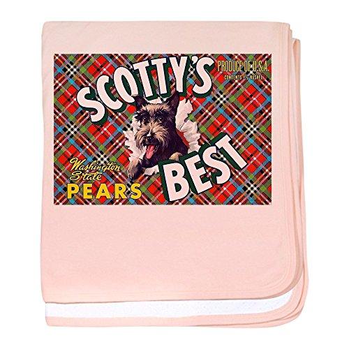 CafePress - Antique Scottish Terrier Pears Fruit Label Baby Bl - Baby Blanket, Super Soft Newborn Swaddle