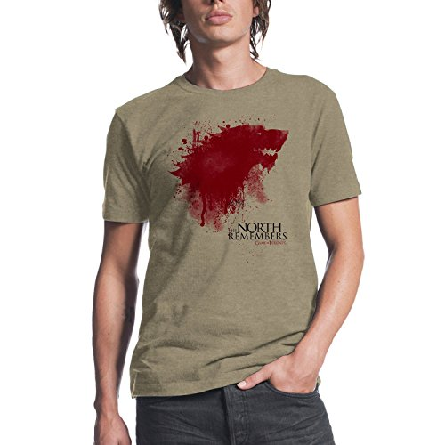 HBOs Game of Thrones The North Remembers Mens Oatmeal Heather T-shirt M