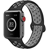 AdMaster for Apple Watch Bands 38mm 42mm,Soft Silicone Replacement Wristband for iWatch Apple Watch Series 1/2/3.