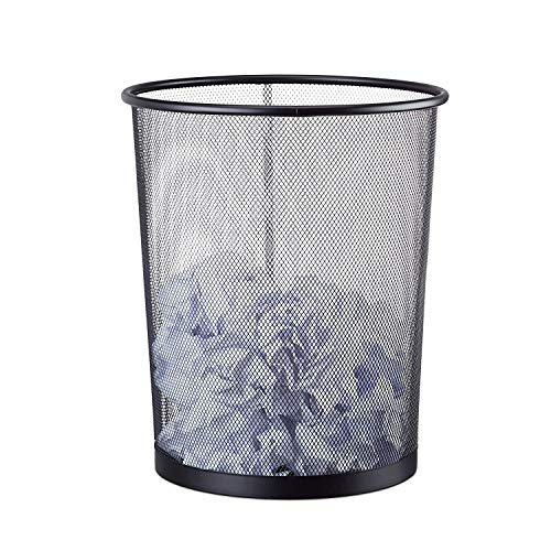 YLJYJ Mesh Waste Bin, Lightweight and Sturdy Circular Wastebasket Waste Recycling Bin Eco Garbage Can for Home Garden Office School Kitchen Bathroom