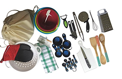 Complete Basic Kitchen Starter Set of Essential Tools and Ga