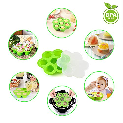 15 Pieces Accessories Set Compatible with 6,8 Qt InstaPot, Ninja Foodi (8qt), Other Pressure Cookers, with Steamer Basket, Springform Pan, Stackable Egg Rack, Egg Bites Mold, Oven Mitts and More by JGSY (Image #3)