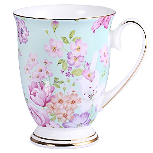 AWHOME Royal Fine Bone China Coffee Mug Assorted colors Tea Cup 11 oz (1, ()