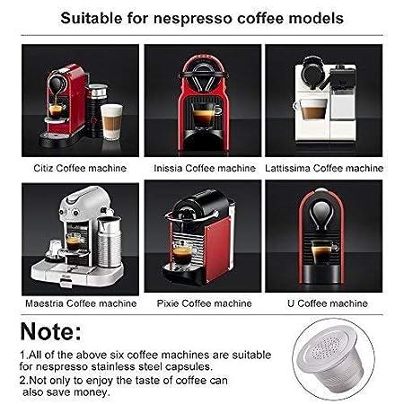 Cápsula de café de acero inoxidable para Nespresso Cafetera uso ilimitado: Amazon.es: Hogar