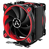 Arctic Freezer 33 Esports Edition - Tower CPU Cooler with Push-Pull Configuration I Silent 3-Phase-Motor and Wide Range of Regulation 200 to 1800 RPM I Includes 2 Low Noise 120 mm Fans - Red