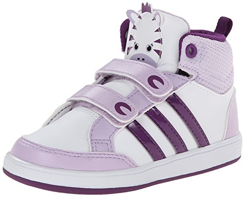 Galleon - Adidas NEO Hoops Animal Mid-Height INF Basketball Shoe (Infant/Toddler),White/Tribe Purple/Bliss Purple,9 M US Toddler