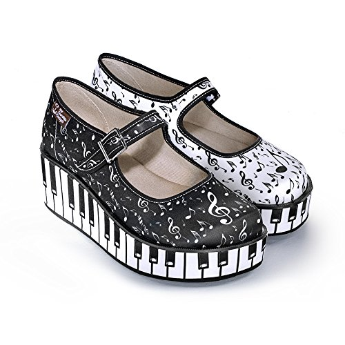 Hot Chocolate Design Chocolaticas Thank You Music Women's Mary Jane Platform Multicoloured HCD 37 ()