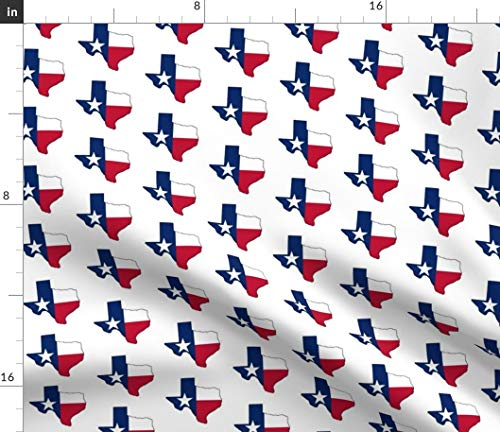 Yard Fabric Texas - Spoonflower Texas Fabric - Texas Flag Flag State Flags State Flag Lone Star Texan by Thinlinetextiles Printed on Cotton Poplin Ultra Fabric by The Yard