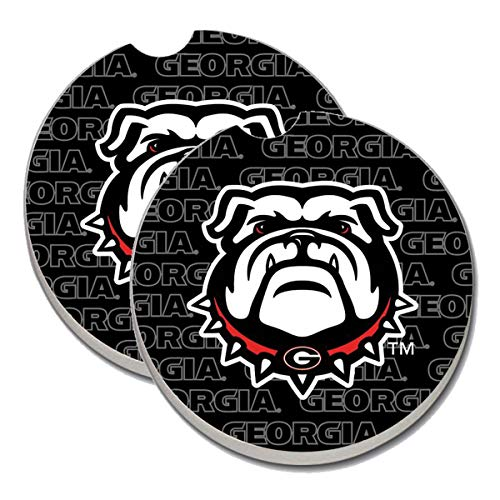 Georgia Bulldogs Car Coasters - Sandstone Car Drink Coaster (set of 2 coasters)