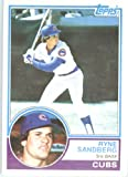 1983 Topps Baseball Card # 83 Ryne Sandberg RC Chicago Cubs Shipped In A Protective Screwdown Display Case!