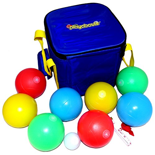 (Playaboule Patented V3 DLX Lighted Bocce Ball Set)
