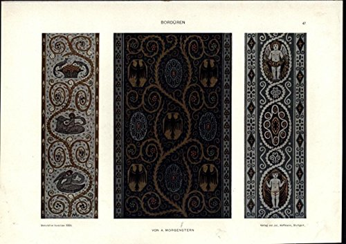 Mythical Patterns by Morgenstern c.1912 scarce Italian Art Nouveau antique print