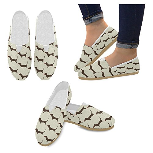 Interestprint Mujeres Loafers Clásico Casual Slip On Zapatos De Moda Sneakers Flats Multi 10