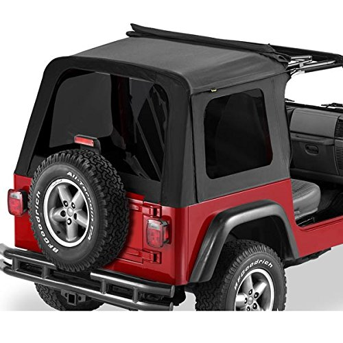 Sunrider Black Denim - Bestop 58699-15 Black Denim Tinted Window Kit for Sunrider for 1997-2002 Wrangler TJ