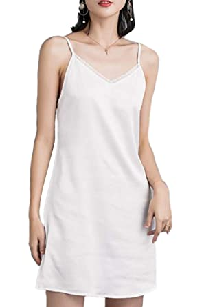 853af1465 Zinmuwa Femmes Fond Robe Court Jupon Jupe Blanc sous Robe Noir sans ...
