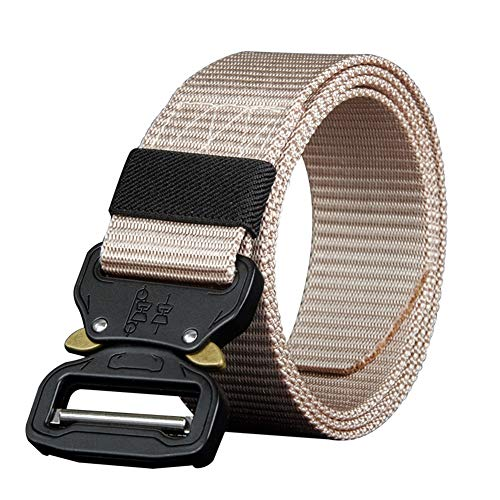 (ZFADDS 110 130 150 170Cm Long Big Size Nylon Material Mens Belt Military Outdoor Male Jeans Tactical Belts NY02khaki 110cm)