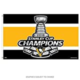 WinCraft Pittsburgh Penguins Champions Official NHL 2016 Stanley Cup Flag 3x5 Deluxe Banner Champs 646439