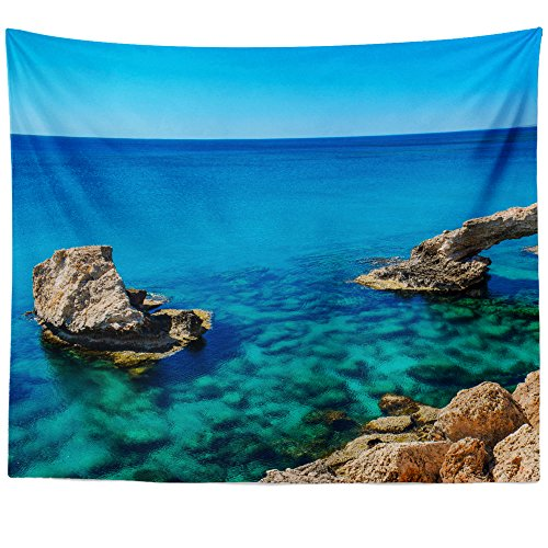 Greco Tapestry (Westlake Art Wall Hanging Tapestry - Cape Greco - Photography Home Decor Living Room - 68x80in (x8z-816-fd0))