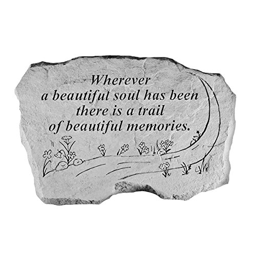 Kay Berry 63220 Wherever a Beautiful Soul… Memorial Garden Stone, Multicolor by Kay Berry Inc