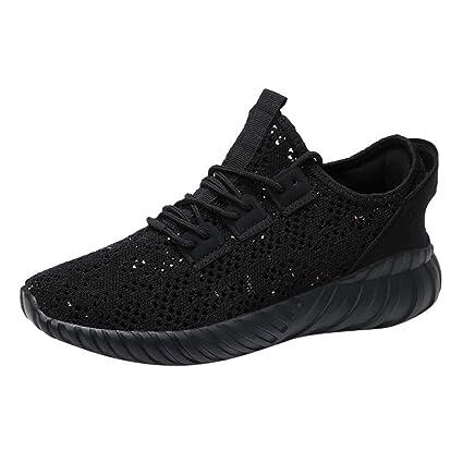 ZHRUI Zapatillas de correr para hombres, zapatillas de deporte Zapatillas con cordones Pisos Chanclas Chanclas