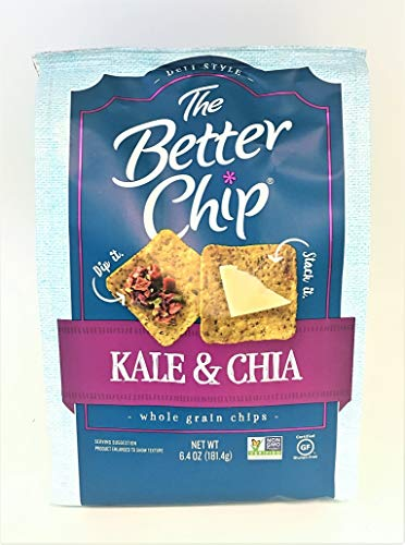 The Better Chip Deli Style Whole Grain Chips 6.4 ounce, 1 Pack (Kale&Chia)