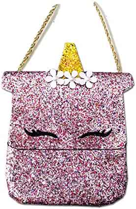 fbe52ef2c080 Dodedise Toddler Kids Quilted Glitter Crossbody Handbags Purse Gifts for  Girls (unicorn)
