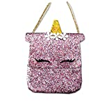 Dodedise Toddler Kids Quilted Glitter Crossbody Handbags Purse Gifts for Girls (unicorn)