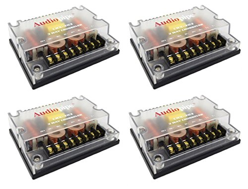 4 Pc 3 way Crossover CRX-303 300 Watts Passive Crossover Car Audio Tweeter - Audiopipe 3 Way Electronic