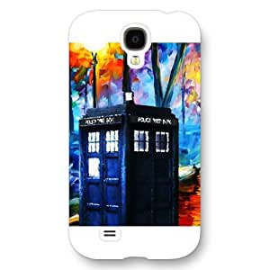 UniqueBox - Customized White Frosted Samsung Galaxy S4 Case, Doctor Who Tardis Blue Police Call Box Samsung S4 case, Only fit Samsung Galaxy S4