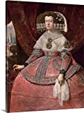 Queen Maria Anna of Spain in a red dress, 1655-60 (oil on canvas) Gallery-Wrapped Canvas