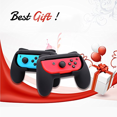 FASTSNAIL Grips for Nintendo Switch Joy-Con, Wear-resistant Handle Kit for Switch Joy Cons Controller, 2 Pack (Black) by FASTSNAIL (Image #6)