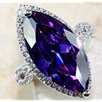 4.5CT Amethyst Women Men 925 Silver Wedding Vintage Cocktail Ring Sz 6-10 by Siam panva (8)