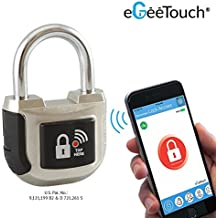 eGeeTouch Smart Padlock 2nd Gen with Patented DUAL Bluetooth+NFC (Single)