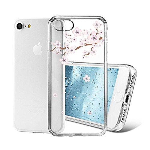 "Vanki® iPhone 7 Funda, Carcasa Serie volar Sakura iPhone 7 Case Cover Silicona Suave Funda para Apple iPhone 7 4.7"" 12"