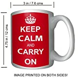 Keep Calm and Carry On Coffee Mug, World War II Image on Mug! - 15 ounces