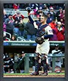 "Joe Mauer Minnesota Twins 2018 MLB Final Game Photo (Size: 12"" x 15"") Framed"
