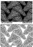 Flexistamps Texture Sheet Set Swirling Dots (Including Swirling Dots and Swirling Dots Inverse)- 2 Pc.