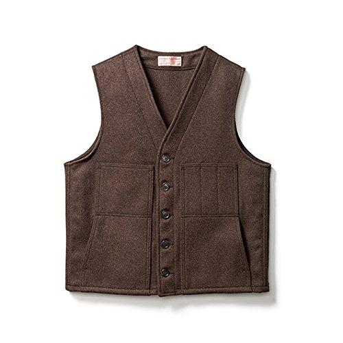 Filson 10056 Wool Vest - Extra Long (40, Brown)