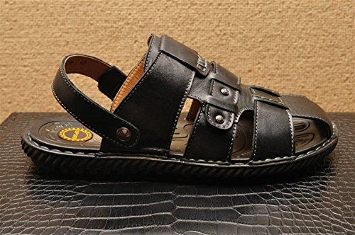 Icegrey Bout Hommes 19964 Fisherman En Cuir Sandales Fermé Chaussures Noir qAWnBCqw