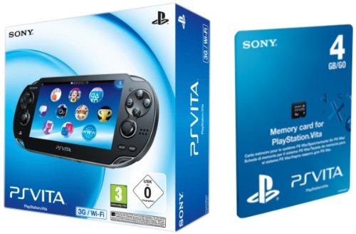 Sony PlayStation Vita 3G + Wi Fi + 4 GB Tarjeta memoria ...