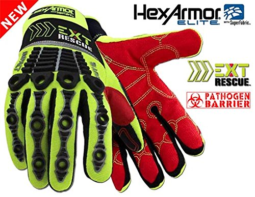 EXT Rescue - HexArmor - 4014 Extrication Glove with waterproof/pathogen liner, SIZE: X-LARGE - Barrier Extrication Gloves