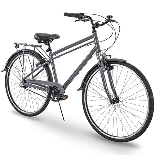 "Royce Union 700c RMX Mens 3-Speed Commuter Bike, 19"" Aluminum Frame, Cool Gray The Huffy Bicycle Company"