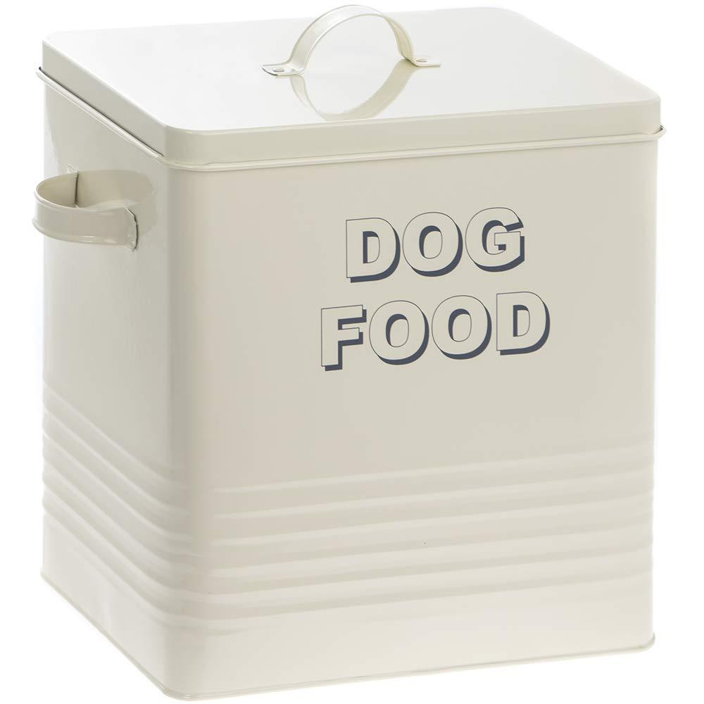 18 x 15 x 25 cm Metal Gris Bote para almacenar la Comida del Perro Lesser and Pavey Home Sweet Home, dise/ño con Texto /«Dog Food/» 20/cm