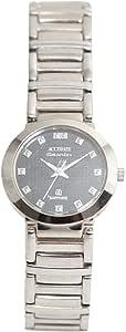 ساعة يد نسائية من اكيورت، دائرية، فضي، ALQ715