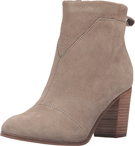 TOMS Women's Lunata Bootie Taupe Suede Boot 12 B